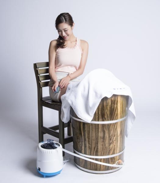 綠檀木足蒸桶-加大型(可蒸腰蒸腳泡腳)